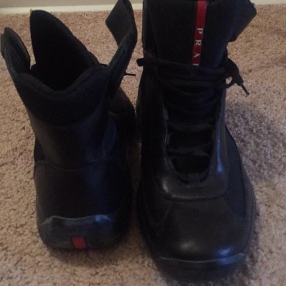 78d177acb0 ... discount mens prada high top sneakers 0697b 31eb4